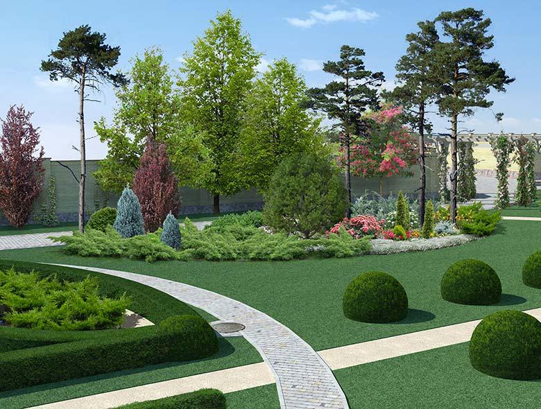 Progettazione giardini progettazione 3d giardino aree for Rendering giardino